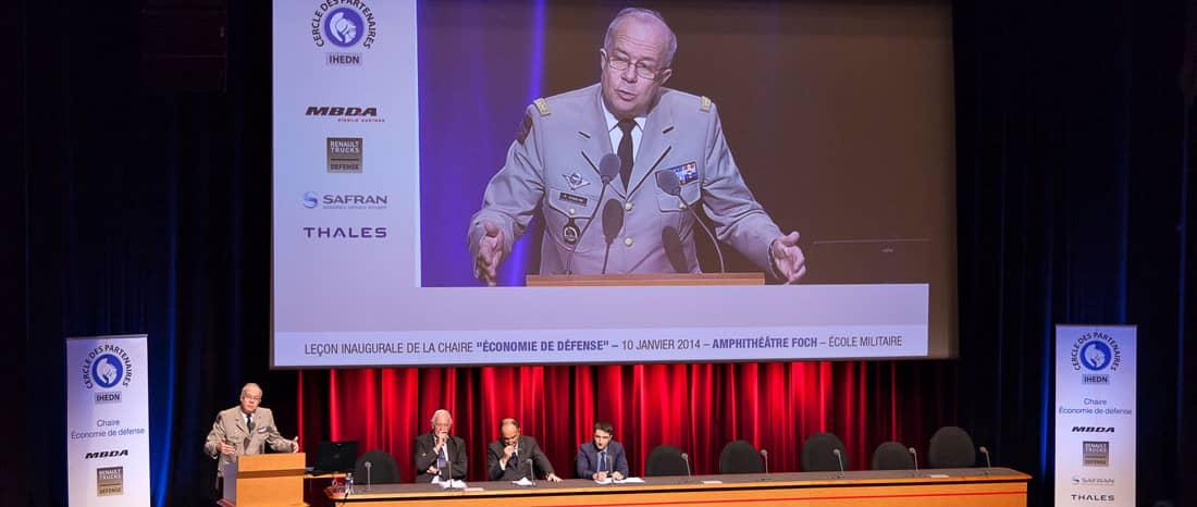 Leçon inaugurale de la Chaire Economie de Défense, le 10 janvier 2014, à l'Ecole Militaire