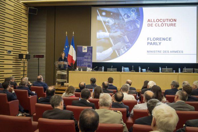 Conférence annuelle de la Chaire Économie de défense-IHEDN prévue pour le 2 décembre 2020, en présence de Florence Parly, ministre des Armées.