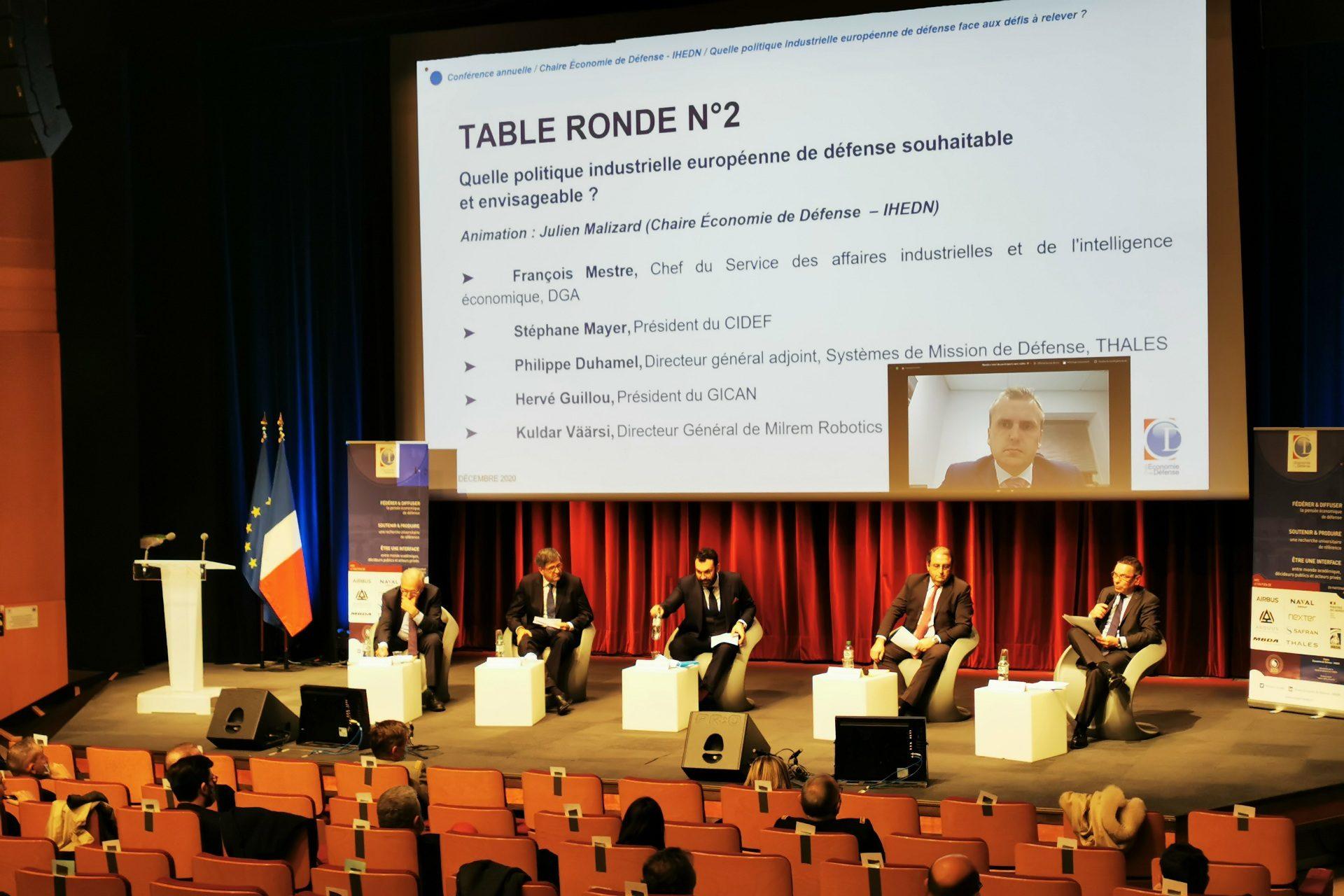 """Conférence annuelle de la Chaire Économie de Défense - IHEDN sur le thème """"Quelle politique industrielle européenne de défense face aux défis à relever ?"""""""