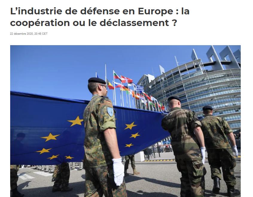 """Josselin Droff et Julien Malizard, chercheurs à la Chaire Économie de Défense - IHEDN, ont publié un article intitulé """"L'industrie de défense en Europe : la coopération ou le déclassement ?"""" dans The Conversation."""
